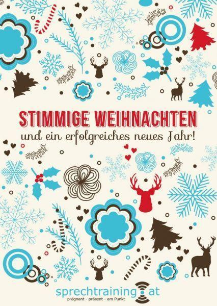 WeihnachtskarteSprechtraining